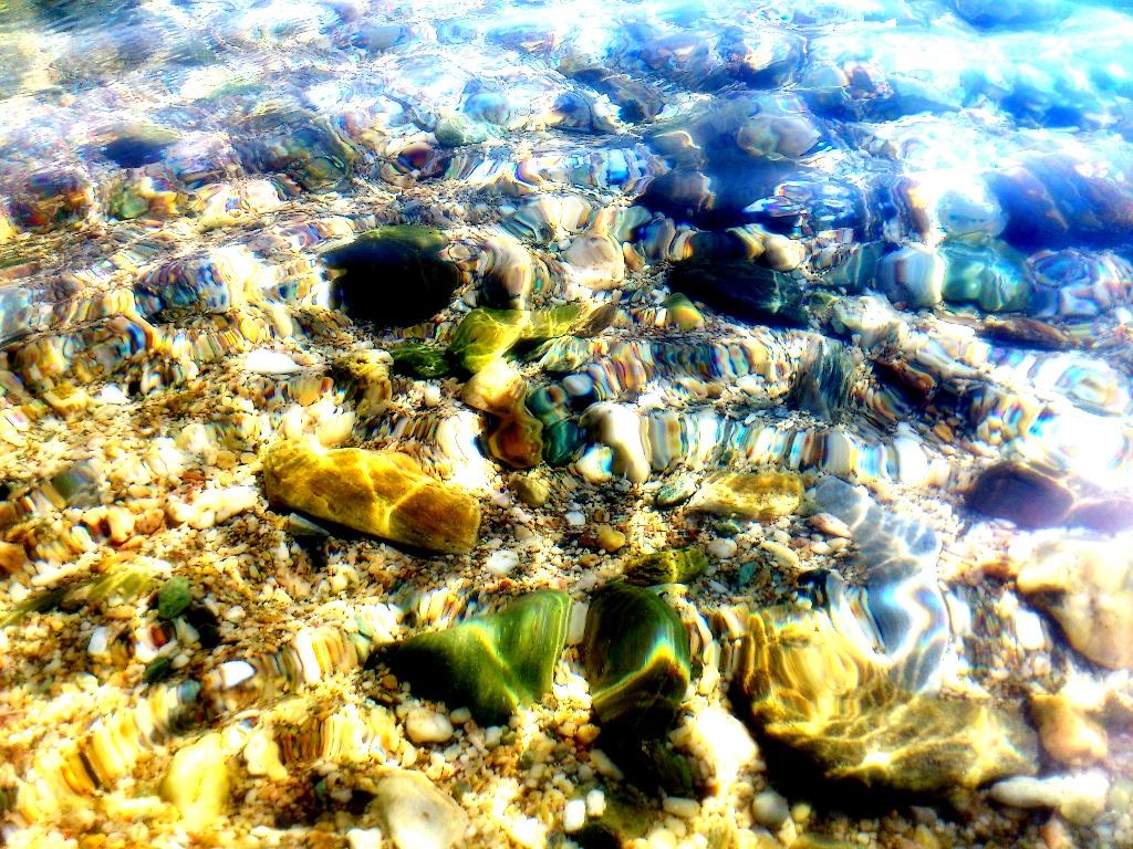 Pebbles in the sea