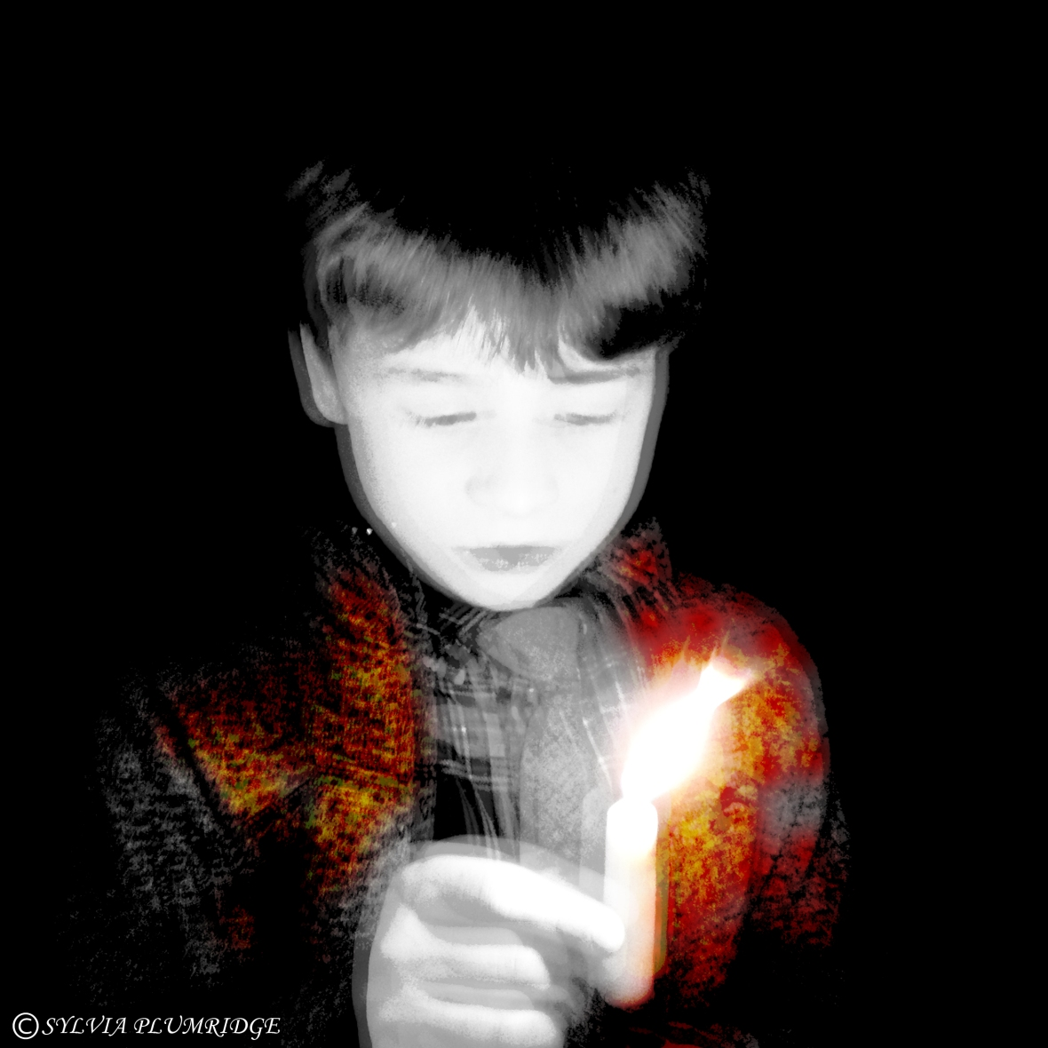 The boy and the candle